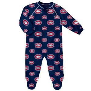 Montreal Canadiens Raglan AOP Sleeper Suit - Infant