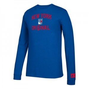 New York Rangers adidas Original 6 Long Sleeve Tri-Blend T-Shirt - Mens