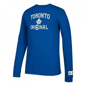 Toronto Maple Leafs adidas Original 6 Long Sleeve Tri-Blend T-Shirt - Mens