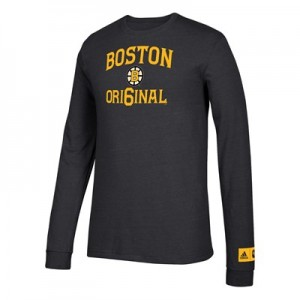 Boston Bruins adidas Original 6 Long Sleeve Tri-Blend T-Shirt - Mens