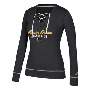 Boston Bruins adidas Skate Lace Top - Womens