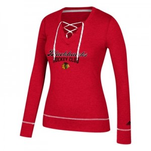 Chicago Blackhawks adidas Skate Lace Top - Womens