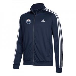 Edmonton Oilers adidas 3 Stripes Track Jacket - Mens