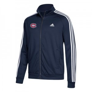 Montreal Canadiens adidas 3 Stripes Track Jacket - Mens