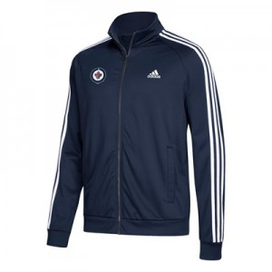 Winnipeg Jets adidas 3 Stripes Track Jacket - Mens