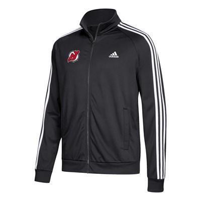 New Jersey Devils adidas 3 Stripes Track Jacket - Mens