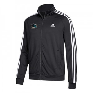 San Jose Sharks adidas 3 Stripes Track Jacket - Mens