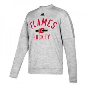 Calgary Flames adidas Fleece Climawarm Crew - Mens