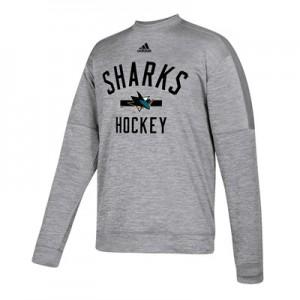 San Jose Sharks adidas Fleece Climawarm Crew - Mens