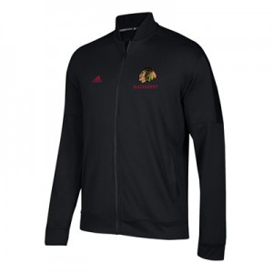 Chicago Blackhawks adidas Team Issue Fleece Bomber Jacket - Mens