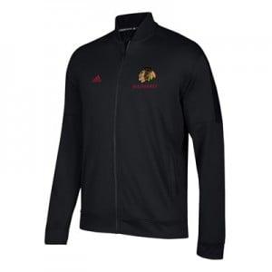 Chicago Blackhawks adidas Team Issue Fleece Bomber Jacket - Mens