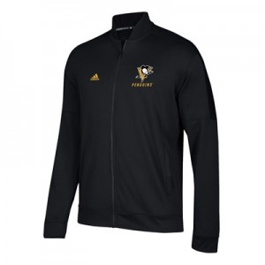 Pittsburgh Penguins adidas Team Issue Fleece Bomber Jacket - Mens