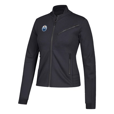 Edmonton Oilers adidas Moto Jacket - Womens