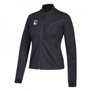 New York Rangers adidas Moto Jacket - Womens