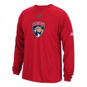 Florida Panthers adidas Long Sleeve Climalite T-Shirt - Mens