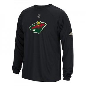 Minnesota Wild adidas Long Sleeve Climalite T-Shirt - Mens