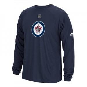 Winnipeg Jets adidas Long Sleeve Climalite T-Shirt - Mens