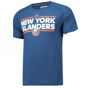 New York Islanders adidas Authentic Ice Short Sleeve Climalite T-Shirt - Mens