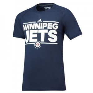 Winnipeg Jets adidas Authentic Ice Short Sleeve Climalite T-Shirt - Mens