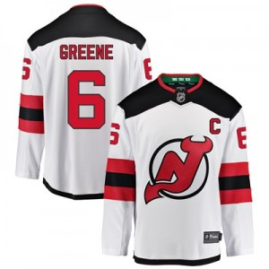New Jersey Devils Fanatics Branded Away Breakaway Jersey - Andy Greene - Mens