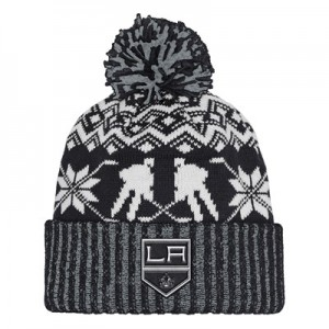Los Angeles Kings adidas Ugly Sweater Cuffed Pom Knit