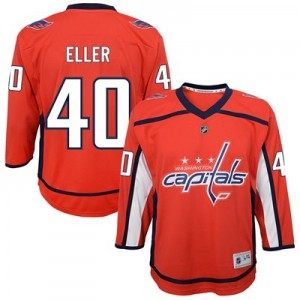 Washington Capitals Replica Home Jersey - Lars Eller - Youth