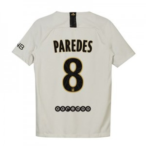 Paris Saint-Germain Away Stadium Shirt 2018-19 - Kids with Paredes 8 printing