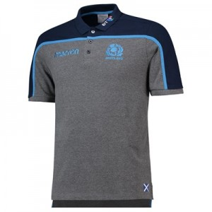 Scotland Rugby Polycotton Polo - Charm/Nav/Lblue - Mens