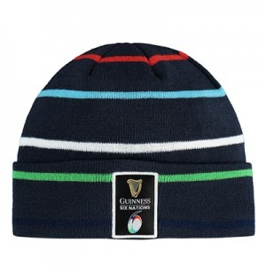 Guinness 6 Nations 19 Striped Beanie