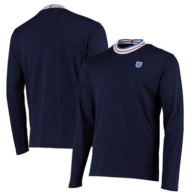 England Long Sleeve T Shirt - Navy - Mens