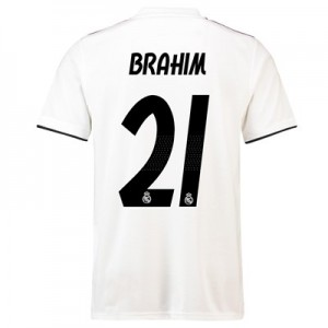 Real Madrid Home Shirt 2018-19 with Brahim 21 printing