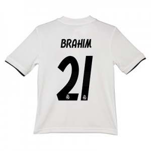 Real Madrid Home Shirt 2018-19 - Kids with Brahim 21 printing