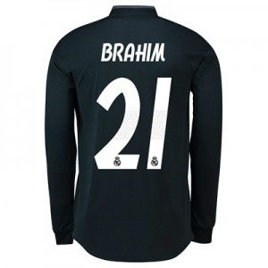 Real Madrid Away Authentic Shirt 2018-19 - Long Sleeve with Brahim 21 printing