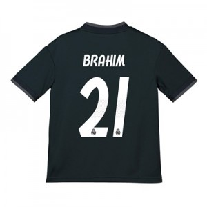 Real Madrid Away Shirt 2018-19 - Kids with Brahim 21 printing