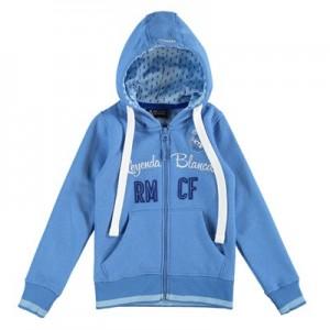 Real Madrid Applique Full Zip Hoodie - Royal Blue - Girls