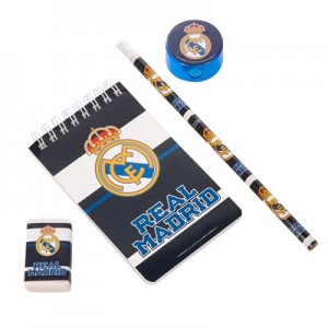 Real Madrid 5pc Stationery Set