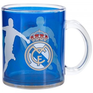 Real Madrid Glass Mug - Blue