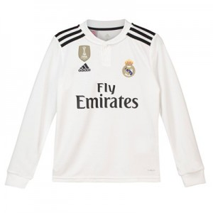 Real Madrid Home Shirt 2018-19 - Long Sleeve - Kids