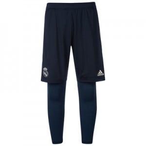 Real Madrid Training 2 In 1 Short - Dark Grey