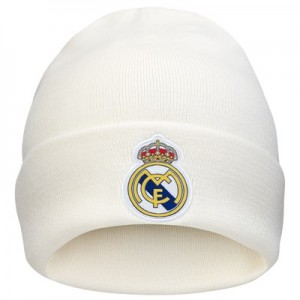 Real Madrid 3 Stripe Woolie Hat - White