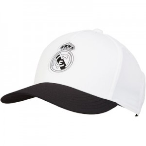 Real Madrid Flat Peak Cap - White