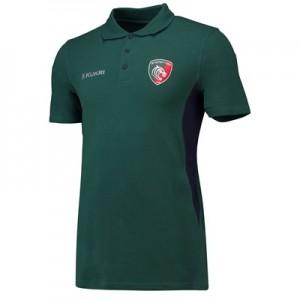 Leicester Tigers Matchday Pique Polo - Green - Junior