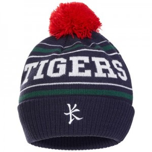 Leicester Tigers Bobble Hat - Navy - Adult