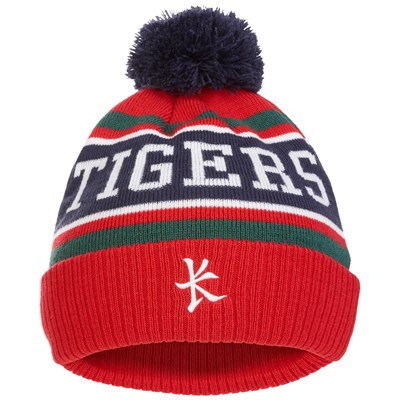 Leicester Tigers Bobble Hat - Red - Adult