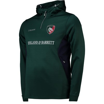 Leicester Tigers Matchday Performance Hoodie - Green - Mens