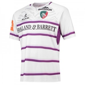 Leicester Tigers Alternate Replica Jersey 2018/19 - White/Purple - Mens