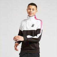 ILLUSIVE LONDON Poly Cut & Sew 1/4 Zip Top Junior - Black - Kids