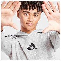 adidas Badge of Sport Fleece Hoodie Junior - Grey - Kids