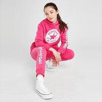 Converse Girls' Chuck Patch Crop Hoodie Junior - Pink - Kids