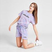Ellesse Girls' Zeta Tie Dye Shorts Junior - Purple - Kids
